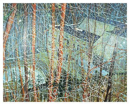 PETER DOIG (1959-) 'The Architects Home In The Ravine', 1991 (oil on canvas)