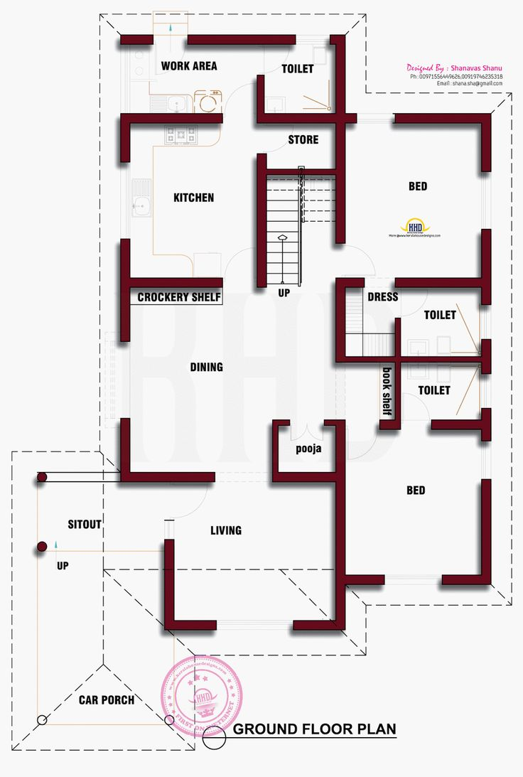 Beautiful Kerala House Photo With Floor Plan Indian House