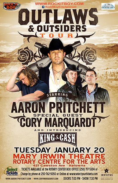 Country 100.7 FM|Concerts- Outlaws & Outsiders Tour featuring Aaron Pritchett