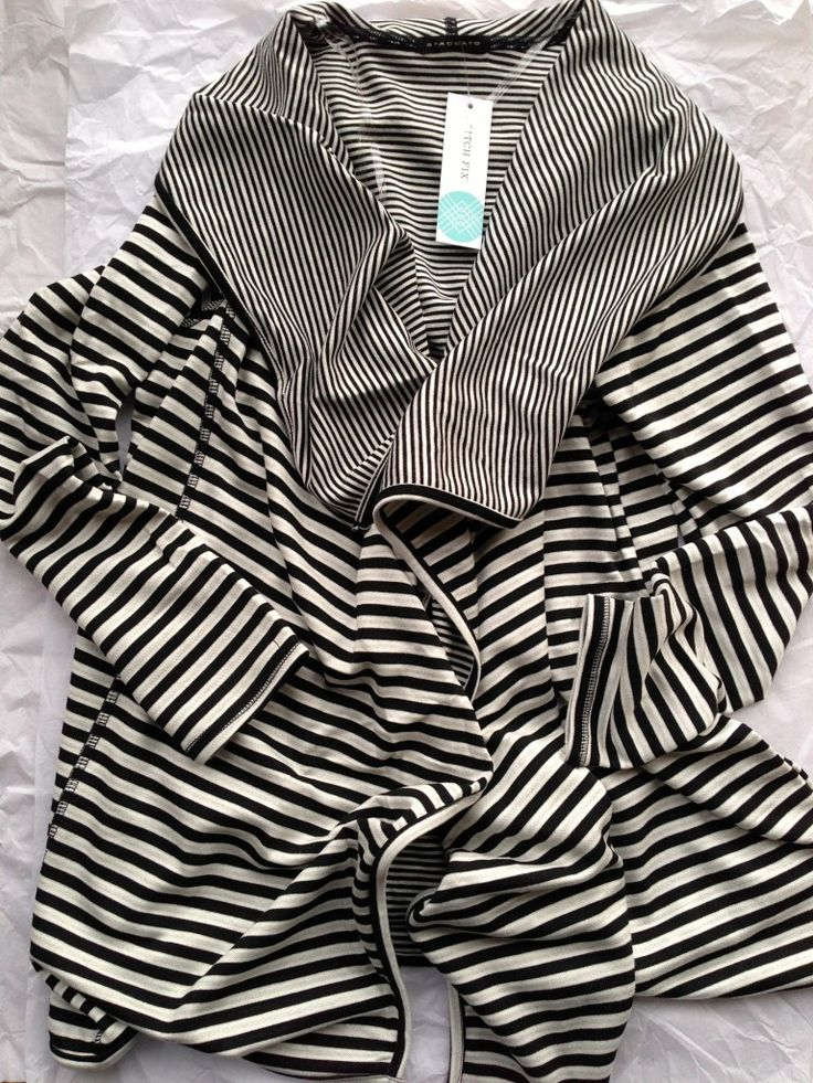 Stitch Fix Request: Staccato Natalia Stripe Draped Front Cardigan. Love the flowiness and the black and white stripes.