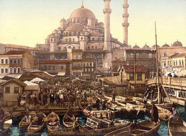 Yeni Cami and Eminönü bazaar, Constantinople, Turkey, ca. 1895