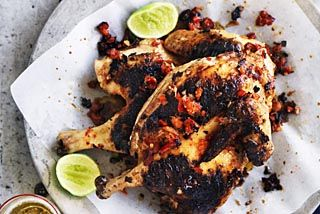 Barbecued spicy chicken