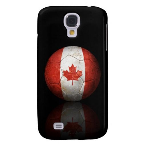 This unique design features the flag of Canada painted onto a football or soccer ball. Rough textures and scratches gives the ball an aged and well used look. A reflection appears just underneath the ball which helps to create a three dimensional effect. This beautiful Canadian themed sports design is a perfect way to show of your National patriotism.