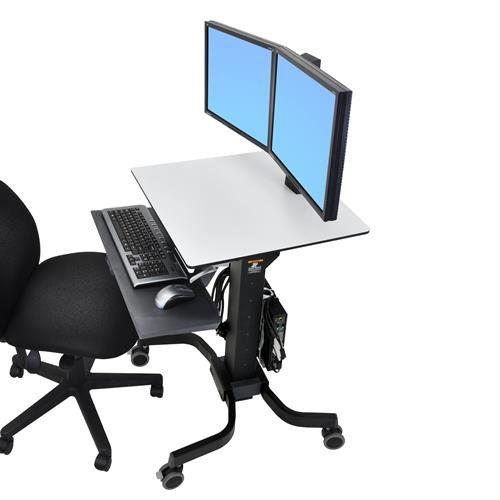 Ergotron WorkFit-C, Dual Sit-Stand Workstation