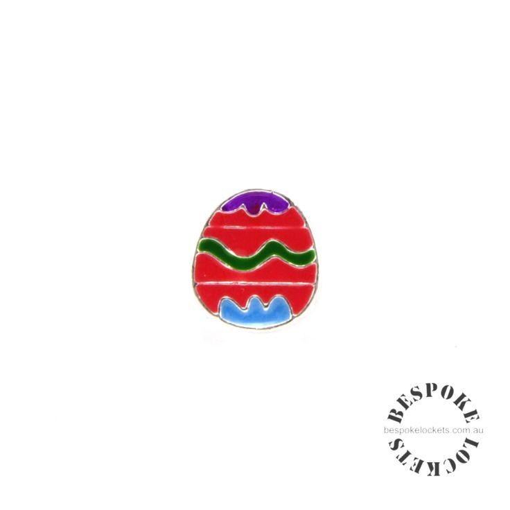 Red Easter Egg for floating locket