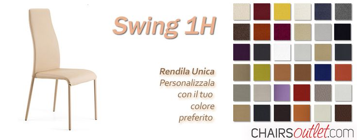 Swing 1H #Sedia da #saladapranzo,  #elegante, #personalizzabile con la scelta dei #colori e le #cuciture sul #tessuto. Pensata, realizzata e creata da #Peressinicasa, in #vendita in #Italia sono su #Chairsoutlet. Ora in #offerta, #aprile, #2018.