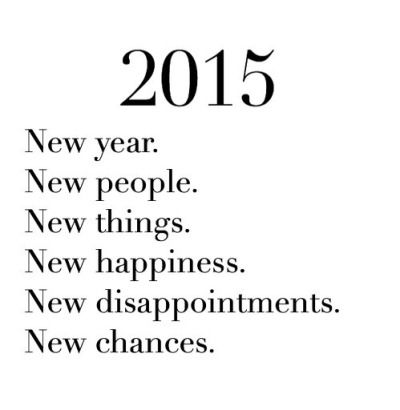 By far one of the worst years Yet!! So ready to start over. Get the hell out of here n move forward w life!! 2015 please be good to me!!