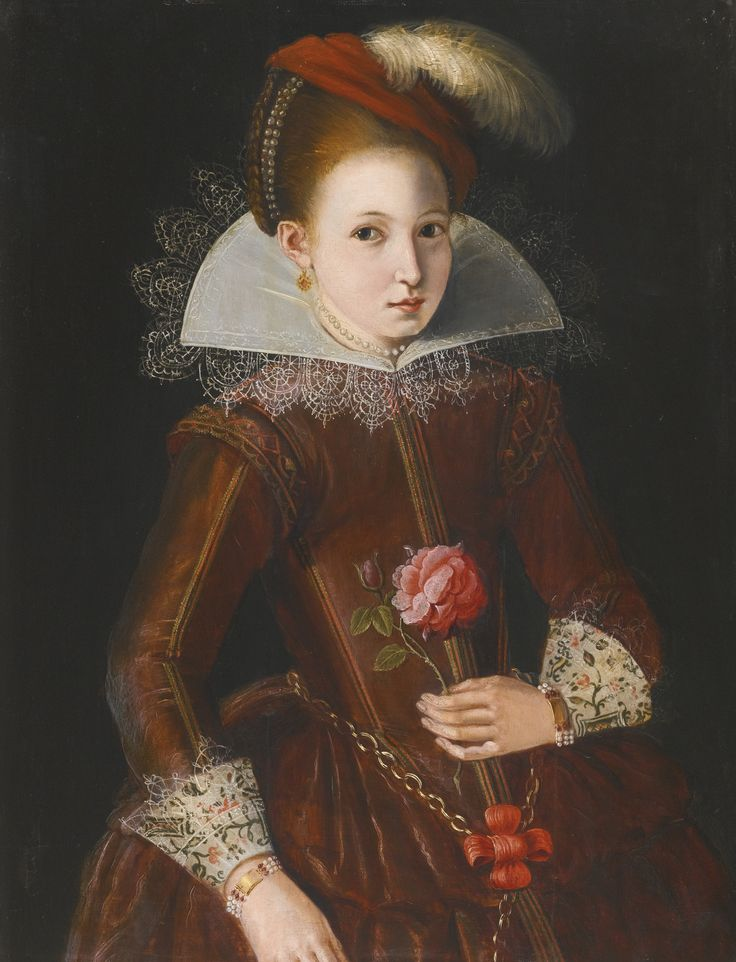ENGLISH SCHOOL, EARLY 17TH CENTURY PORTRAIT OF A GIRL