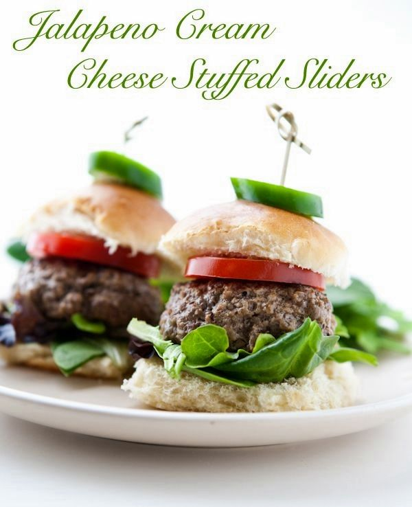 Cream Cheese Jalapeno Stuffed Sliders