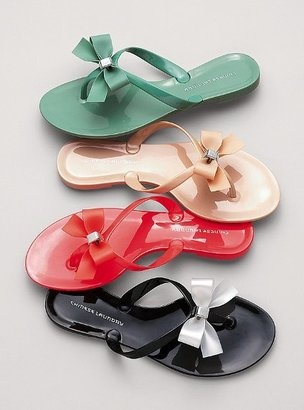Looking for some cute bow flip flops... These aren't the right ones but very cute!