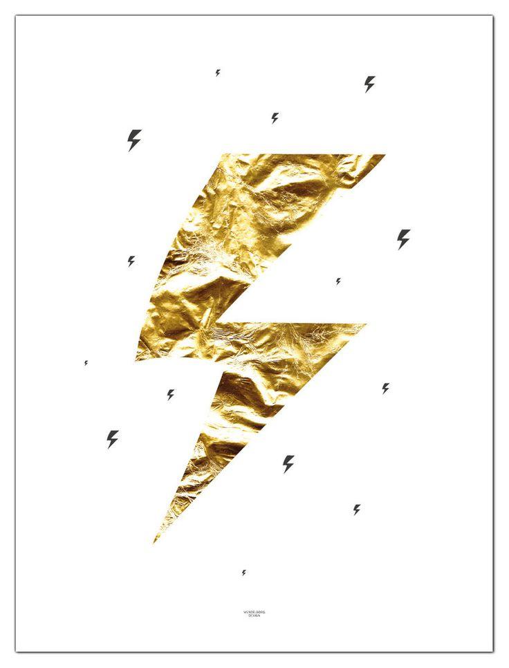 Lightning poster from www.wendelborgdesign.no