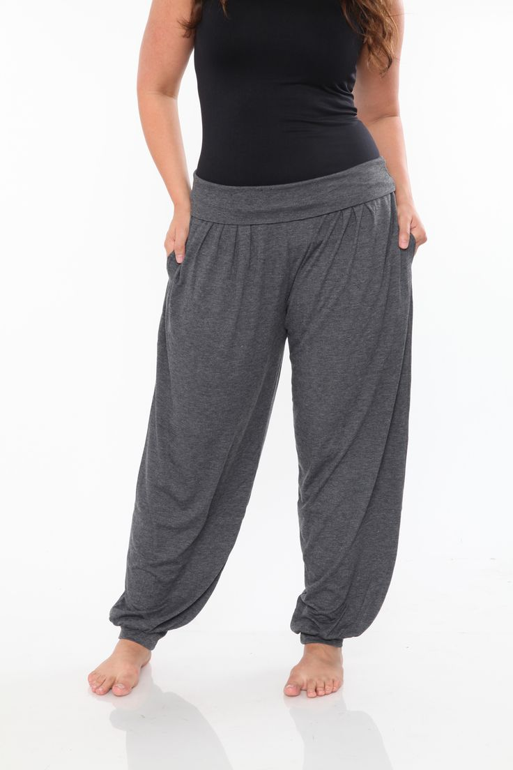Plus Size Charcoal Harem Pants  Check out our amazing collection of plus size dresses at http://wholesaleplussize.clothing/