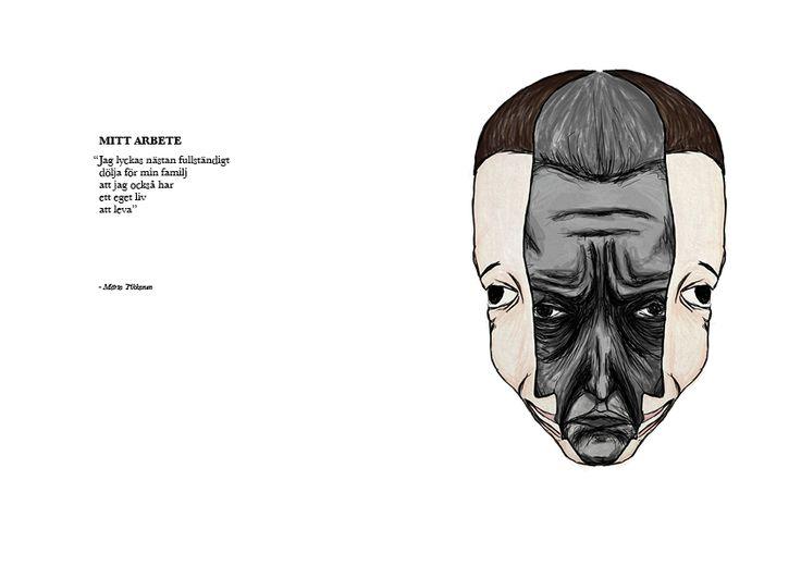 "Tikkanens ""mitt arbete"" by Anton Krohn #illustration"