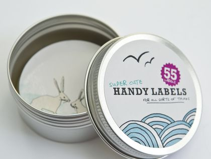 Tin of Super Cute Glossy Labels