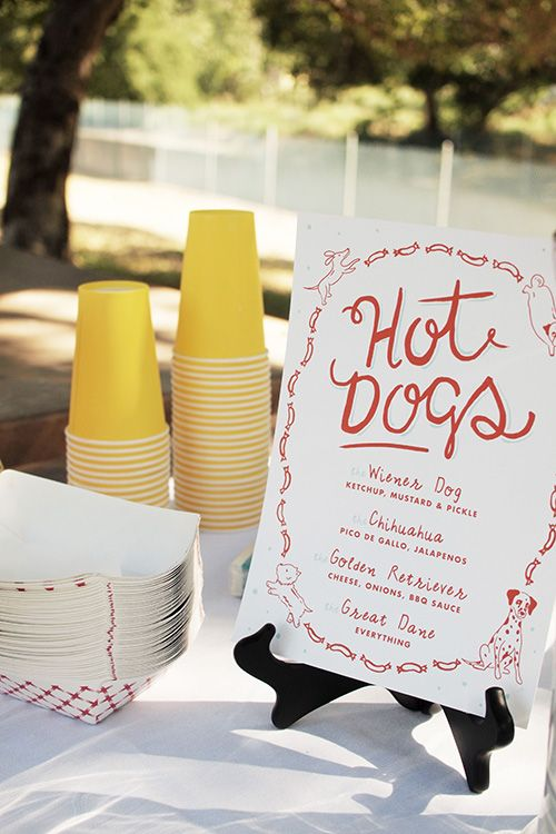 Pixel's First Birthday hot dog party free printables