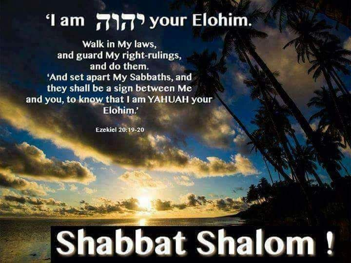 It's the most beautiful day of the week!  It is The Most High's Sabbath day (Yom Shabbat).  Shabbat Shalom!!