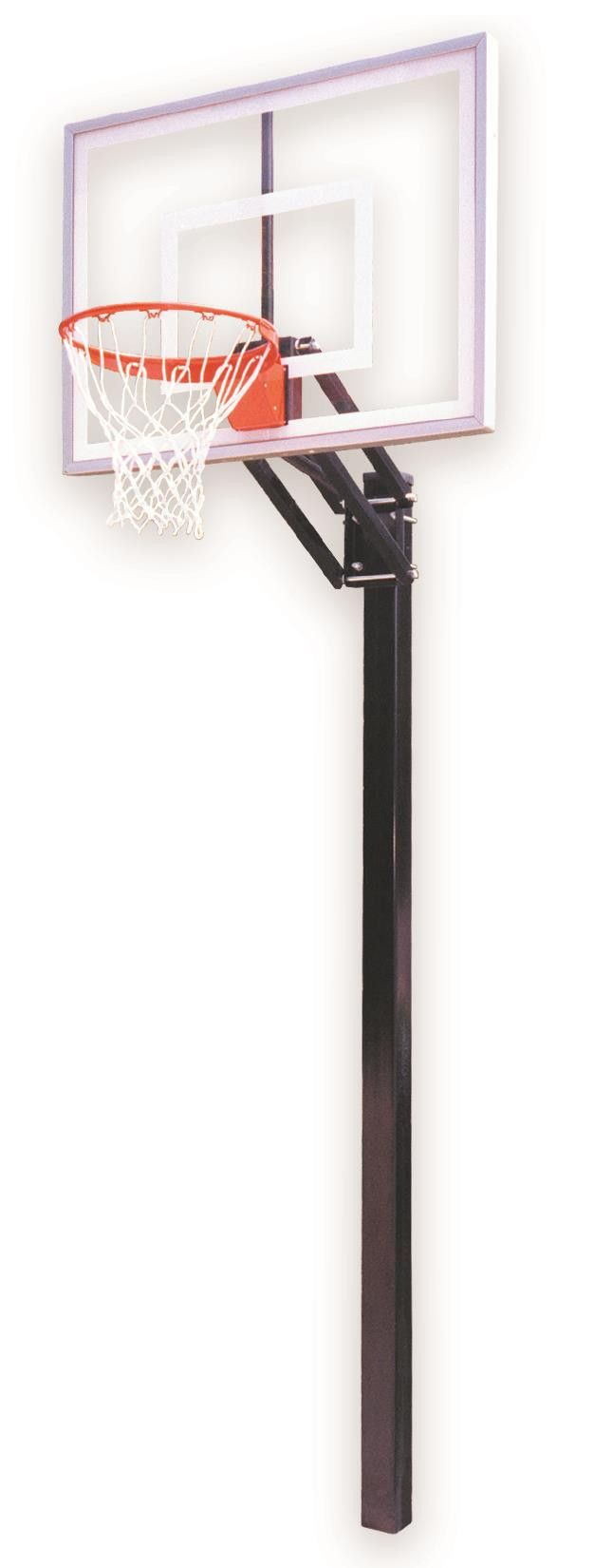 First Team Champ II In Ground Outdoor Adjustable Basketball Hoop 48 inch Acrylic from NJ Swingsets