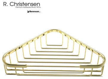 5317US3PVD Polished Brass Shower Basket by R. Christensen transitional-shower-caddies