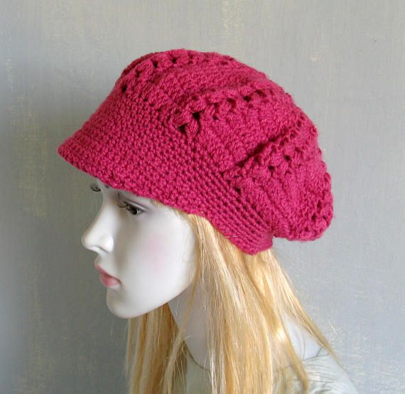 Crochet Newsboy Hat Beanie Women Accessories Hand Crochet Hat