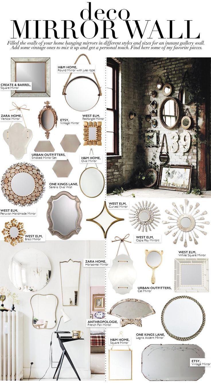 deco mirror wall collage vintage