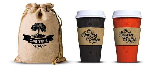 Vintage Coffee Branding - One Tree Coffee Co Gets a Brand Boost From Boheem (GALLERY)