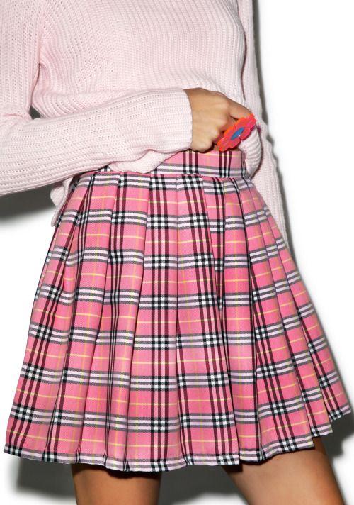 pink | blue | purple  kawaii nymphet gyaru pastel 90s grunge fachin skirt bottoms dollskill plaid