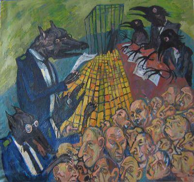 Maxim Kantor - Ecce Homo (2006), Oil on canvas 221X201cm