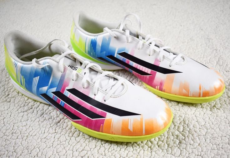 Adidas F10 IN Messi Indoor Soccer Shoes Sneakers Blue/Vivid Berry/Solar Slime #adidas