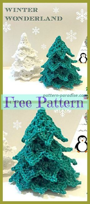 Crochet Christmas Tree Decoration – Free Patterns Stephanie Mezzapelle