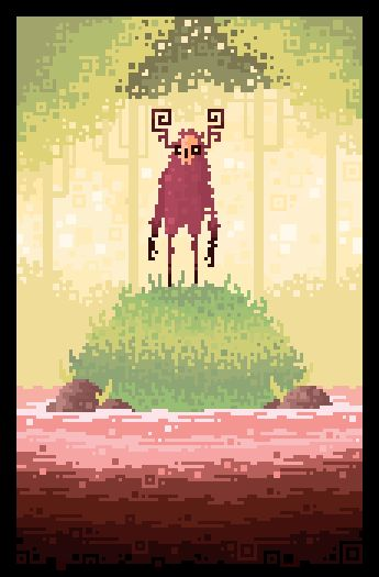I've always been a big fan of 8 bit art. There's an aspect of minimalism to it.
