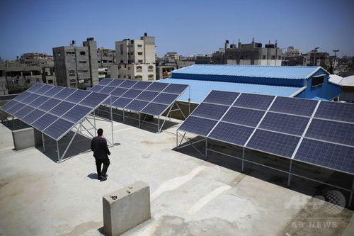 電力不足のパレスチナガザ地区太陽光発電に託す希望写真3枚国際ニュースAFPBB News
