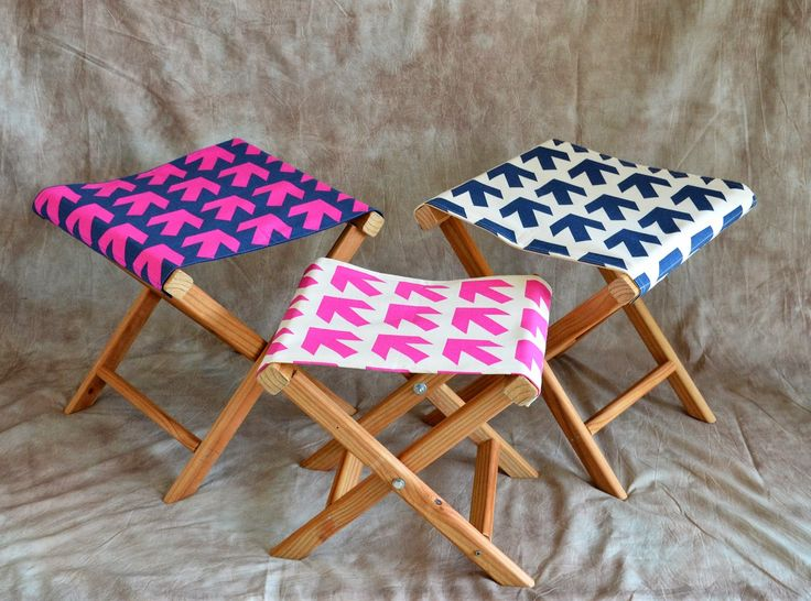 Ikat Bag: Make Folding Camp Stools. Link To Full Tutorial On How About  Orange
