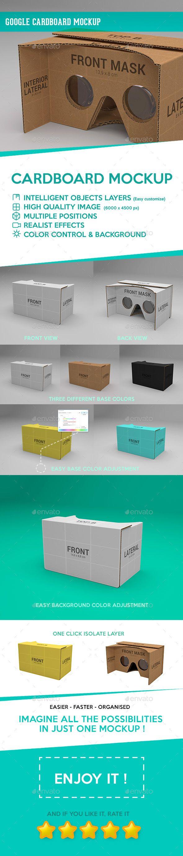#Google Cardboard #Mockup - Miscellaneous Print Download here: https://graphicriver.net/item/google-cardboard-mockup/19604485?ref=alena994