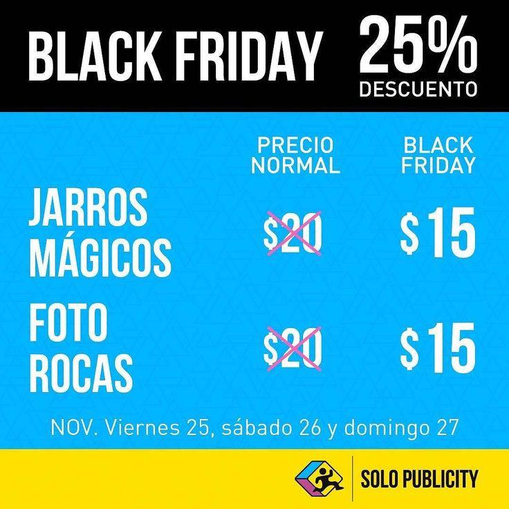 Aprovecha este fin de semana el 25% de descuento en nuestros Jarros Mágicos y Foto Rocas! #BLACKFRIDAY