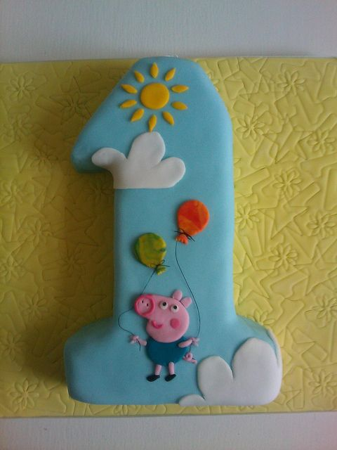 George Pig cake by peggypal, via Flickr