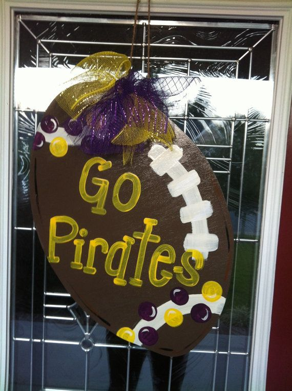 Go Pirates East Carolina Football Wooden by PinkWhimsyCollection