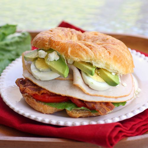 cobb salad croissant sandwhich. Oh my gosh. YUM
