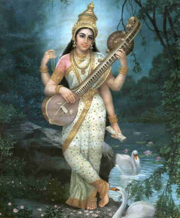 Saraswati - blessings learning, knowledge, and wisdom