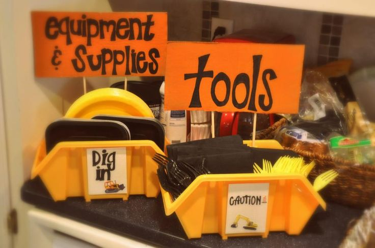 boys construction theme party