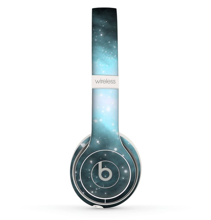 The Light & Dark Blue Space Skin Set for the Beats by Dre Solo 2 Wireless Headphones