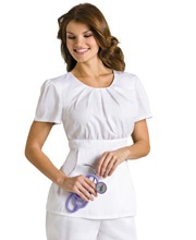 This would be a cute all white scrub outfit