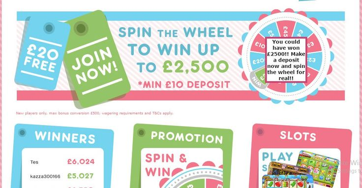 The Bingo Boutique is a 15 Network bingo site. Deposit £10, play with £30 and spin the wheel for an extra bonus of £5 - £2500.