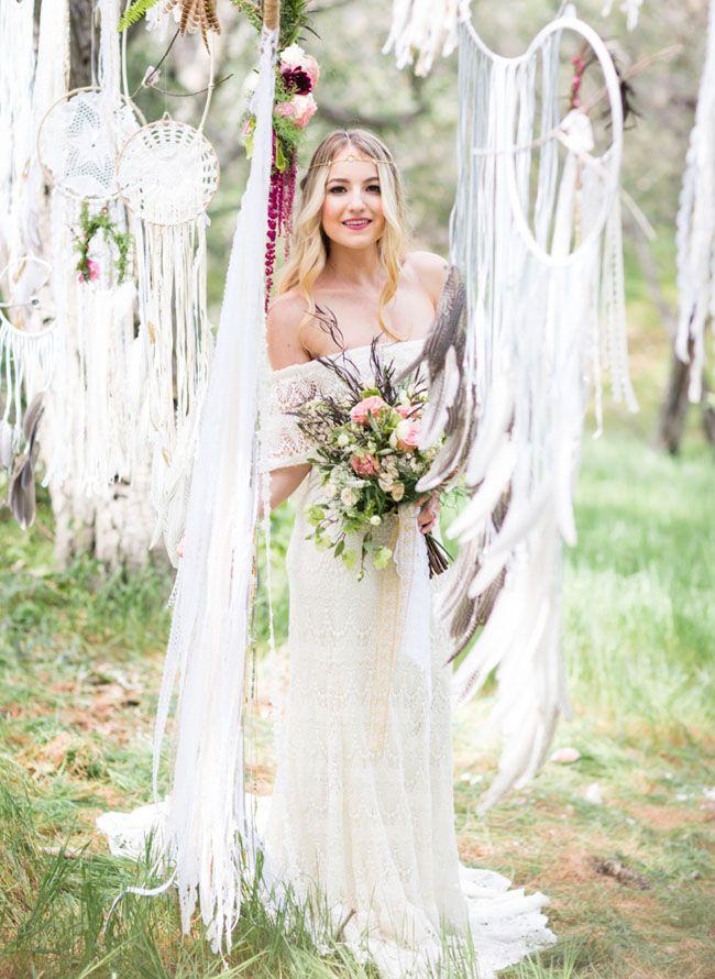 bohemian dreamcatcher bride