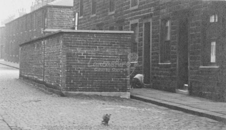 Burnley air raid shelter 1947. This type was built with house brick. These were long rectangular structures with concrete roofs, and inside were rows of wooden bunk beds. They were not bomb proof. How ever they did offer protection from bomb blast. Shelter was situated in Thorn street Burnley .