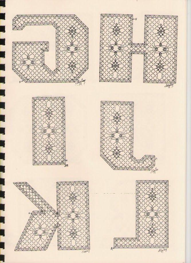 Alphabet G à L Torchon