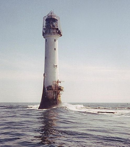 Bell Rock Light at Inchcape -   Off Scotland's Coast.  It's  The Oldest Surviving Wave Washed Light in the World.