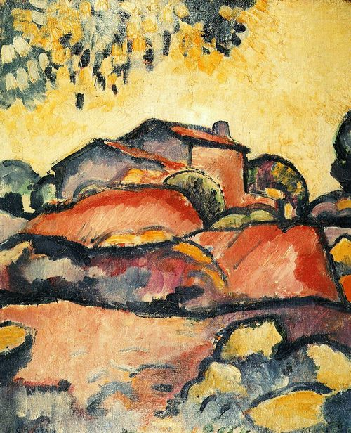 Georges Braque was a major 20th-century French painter and sculptor. 1905, Braque adopted a Fauvist style as above, characterized by vibrant color.