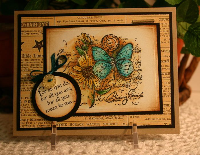 handmade greeting card ... Butterfly Collage by CathyRose ...