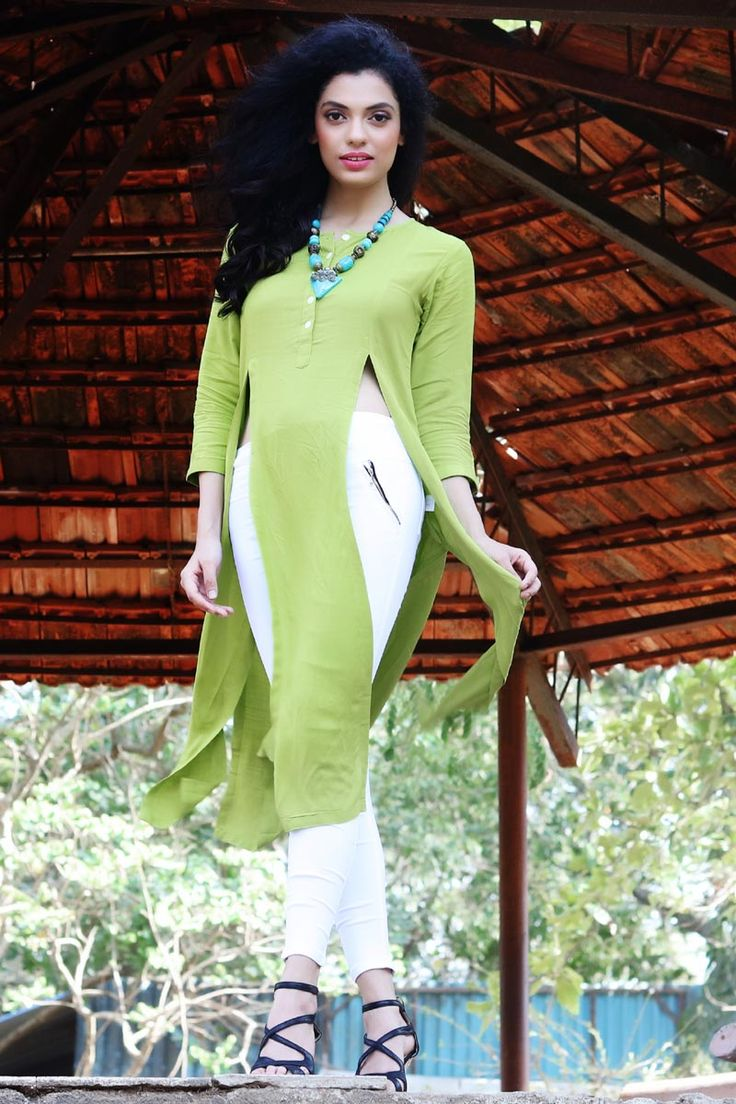 #Lalgulal Light #Green Fluidic #Linen Slub Fancy #Readymade #Indo-#Western #Kurti. Buy Now :- http://goo.gl/kaanmp To Order you Call or #Whatsapp us on +91-95121-50402. #COD & #FreeShipping Available only in India.