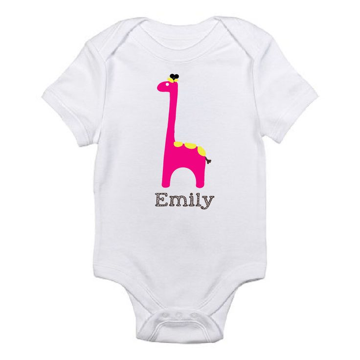 10 best personalized onesies images on pinterest long sleeve giraffe design custom name baby shirt personalized onesie baby shower gift custom toddler shirt baby girl shirt kids tees negle Image collections